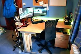 Dual Monitor Computer Desks Multi Computer Desk Wyskytech