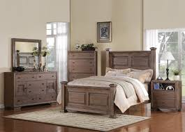 White Distressed Bedroom Furniture by Acme Equinox Poster Bedroom Set In Distressed Ash