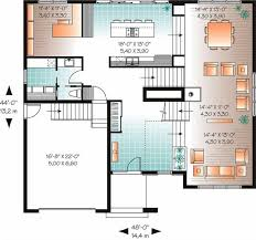 2nd floor house plan 4 bedrm 3198 sq ft contemporary house plan 126 1012