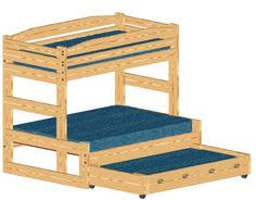 Build A Bunk Bed With Trundle by Bunk Bed Plan Stackable Twin Over Twin With Trundle Bed Or Large