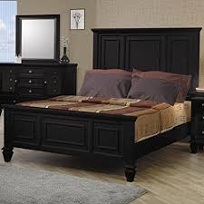 amazon com coaster king size bed cape cod style in black finish