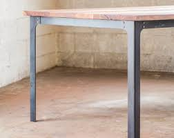 wood table with metal legs small dining table etsy