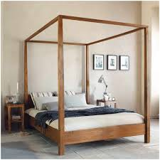Canopy Bed Frame Design Bedroom Extraordinary Wood Canopy Bed Design Idea Photo Gallery