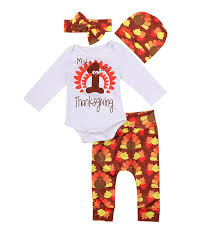 baby boys 1st thanksgiving day bodysuits turkey