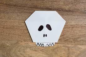 origami halloween easy origami skull u2014 all for the boys