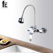 wall kitchen faucet fie wall mounted double holes kitchen faucet mixers sink tap wall