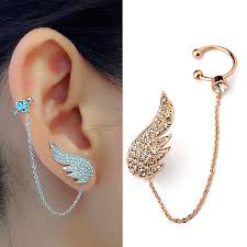 ear cuff jewelry 2015 new style fashion ear cuff jewelry inlay austrian