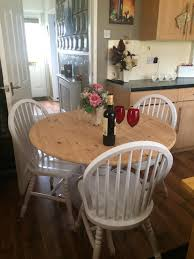 shabby chic round dining table shabby chic round dining table and 3 chairs in new moston