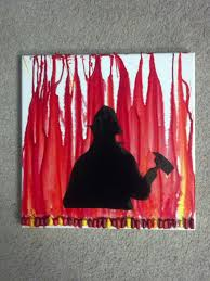 firefighter wall art firefighter decor distressed wall decor firefighter silhouette melted crayon art