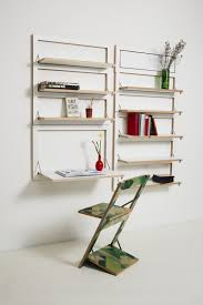 wall mounted shelving system contemporary wooden residential