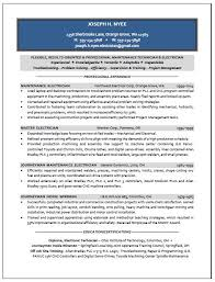 Master Resume Example by Master Electrician Resume Example 6 Ilivearticles Info