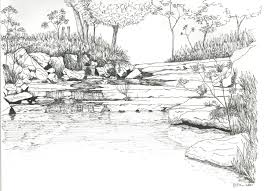 coloring pages for landscapes river landscape coloring pages coloring pinterest landscaping