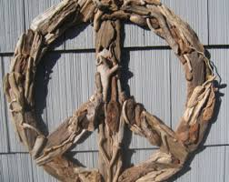Driftwood Home Decor Driftwood Peace Sign Etsy