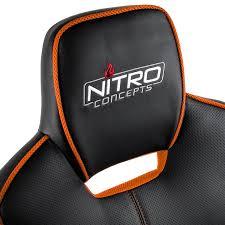 siege orange siège gaming nitro concepts racer noir et orange fauteuilgamer