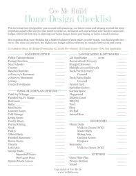 home design checklist home design checklist with hundreds of options house renovation