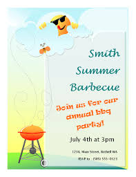 summer barbeque flyer entertaining party pinterest summer