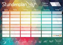 dein trendiger stundenplan zum ausdrucken saxoprint - Stundenplan Designen