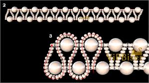 pearl beaded bracelet images Beaded bracelet with pearls 3d tutorial jpg
