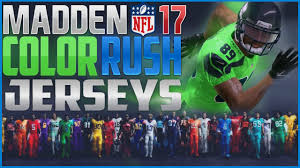 top colors 2017 madden nfl top 10 color rush jerseys youtube