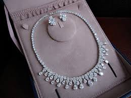 jewelry sets jewelry set tennis necklace w matching earrings platinum plated