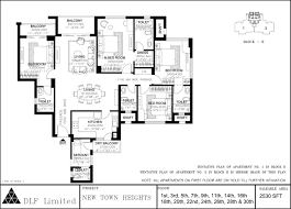 dlf new town heights kolkata apartments u0027 floor plans