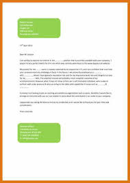 cover letter layout letter format business