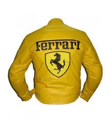 ferrari yellow ferrari yellow leather jacket
