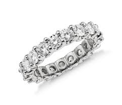 eternity ring diamond eternity ring in platinum 3 ct tw blue nile