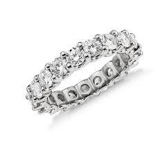diamond eternity ring in platinum 3 ct tw blue nile