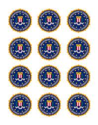 x bureau 12 x fbi federal bureau investigation edible stand up wafer cake