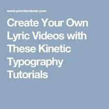 25 unique kinetic typography tutorial ideas on pinterest logo
