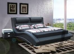 Black Platform Bed Queen Napoli Leather Platform Bed Black Queen Size Home Furniture Stock