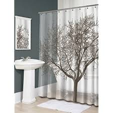 Shower Curtains With Trees Splash Home Tree Mocha Shower Curtain Home Kitchen
