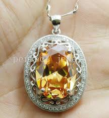 sterling silver stone necklace images Citrine necklace pendant natural real citrine 925 sterling silver jpg