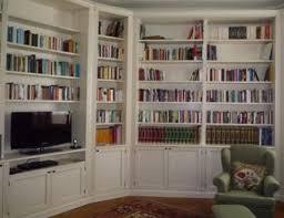 librerie bianche librerie in legno lecco arredamenti su misura