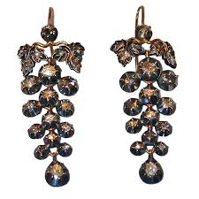 fabulous earrings fabulous antique diamond grape cluster earrings for sale at 1stdibs