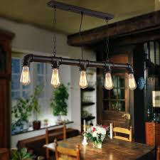 Lights For Dining Room Aliexpress Com Buy Water Pipe Steampunk Vintage Pendant Lights