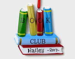 book club ornament etsy