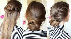 3 easy braided hairstyles braided updo braidsandstyles12 youtube