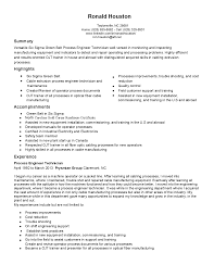 Pharmaceutical Quality Control Resume Sample Process Technician Resume Sample Resume For Your Job Application
