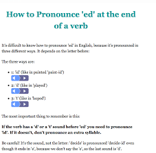 esl librarian great sites for teaching how to pronounce u0027ed u0027 endings
