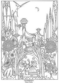 color fairy tale illustrations thumbelina coloring