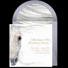 free beautiful horse online invitation punchbowl com