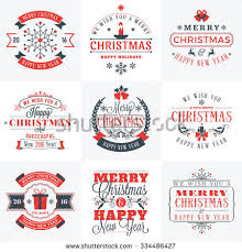 merry happy new year signs stock vector 525716848