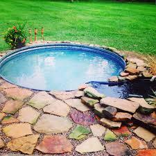 pool relaxing garden oasis soak metal tub backyard gardening