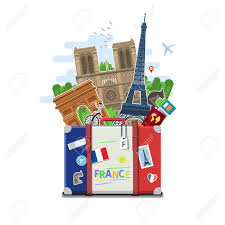 Frenxh Flag Concept Of Travel To France Or Studying French French Flag With