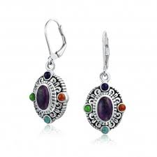 purple drop earrings sterling silver leverback drop earrings choose leverbacks