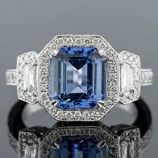 ppd94 natural non heated blue sapphire fancy trapezoid diamond