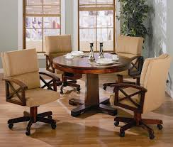 chairs kitchen chairs with rollers poker table casters home