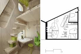 10 square meters small wooden house for students on 10 square meters interior